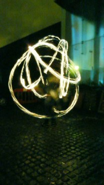 Fire Poi and Fire Breathing