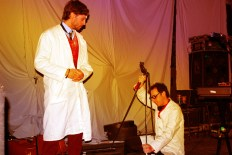 Dr Orgelby and his assistant