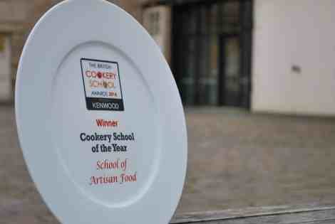Awarded the prize for Britain's top cookery school