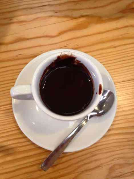 Hot chocolate, Portuguese style (Photo: Lucy McMichael)