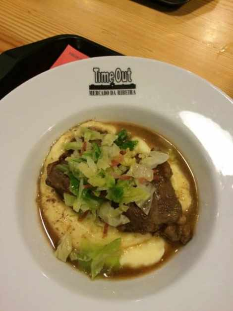 Pig cheeks and mash