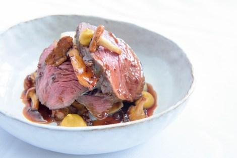 Pan roasted loin of Irish beef