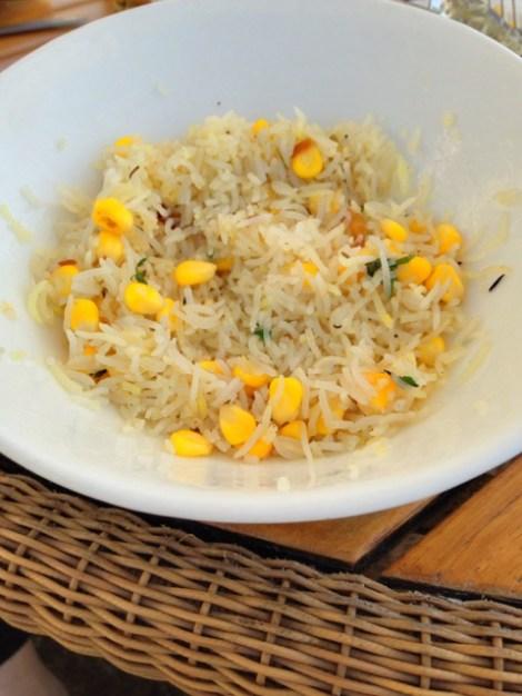 Makai Pulao, a simple, light dish