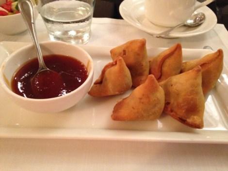 Samosas made in the kitchens of the Taj Mahal Hotel, Mumbai