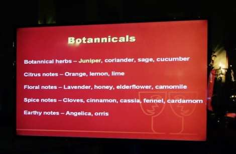 Botanicals used to create the subtle taste of artisan gin