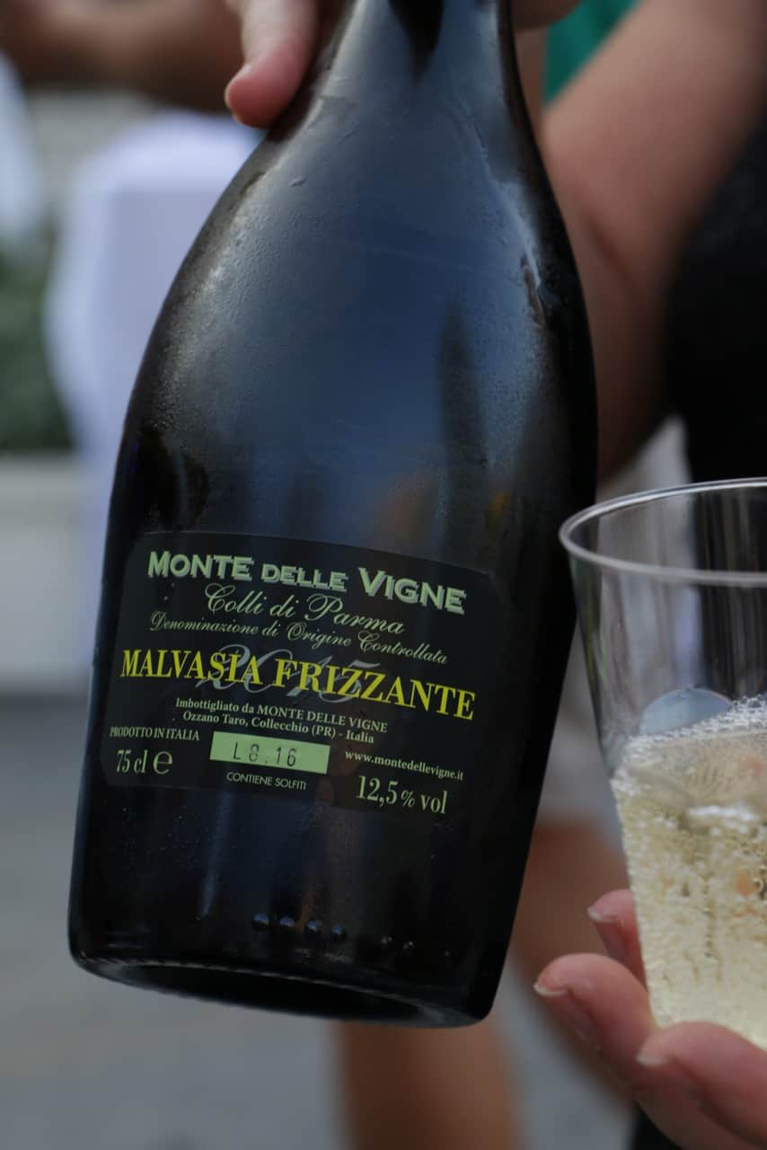 Fizzy Malvasia wine is great with Parma ham