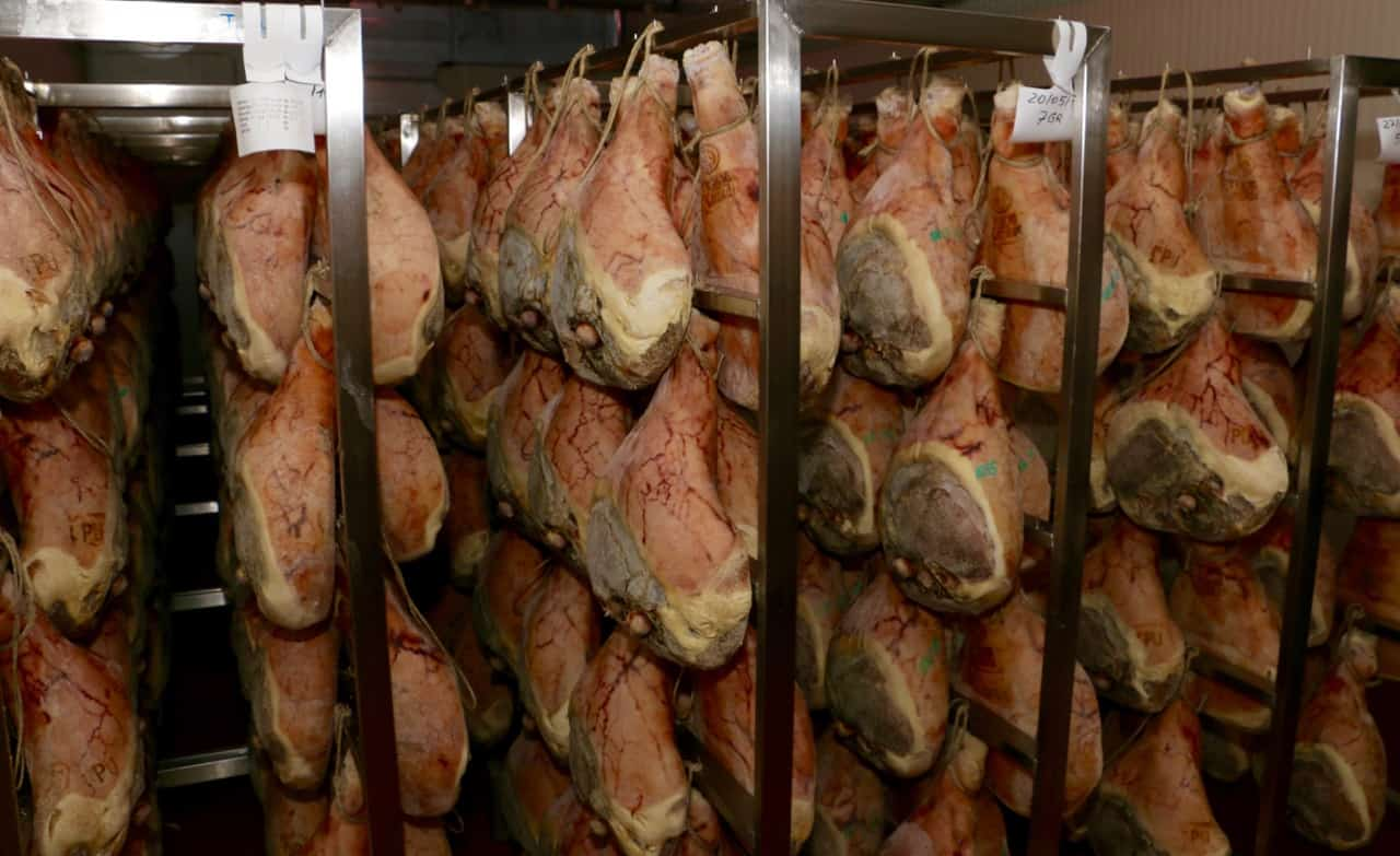 Hanging hams develop the flavour