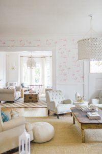 Modern French Country Family Room Renovation Reveal