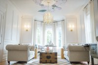 Modern Parisian Living Room Reveal: Wainscoting, Paint ...