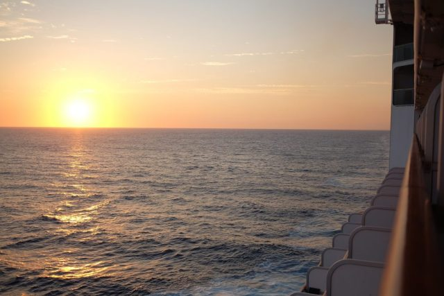 Sunset from the Ruby Princess