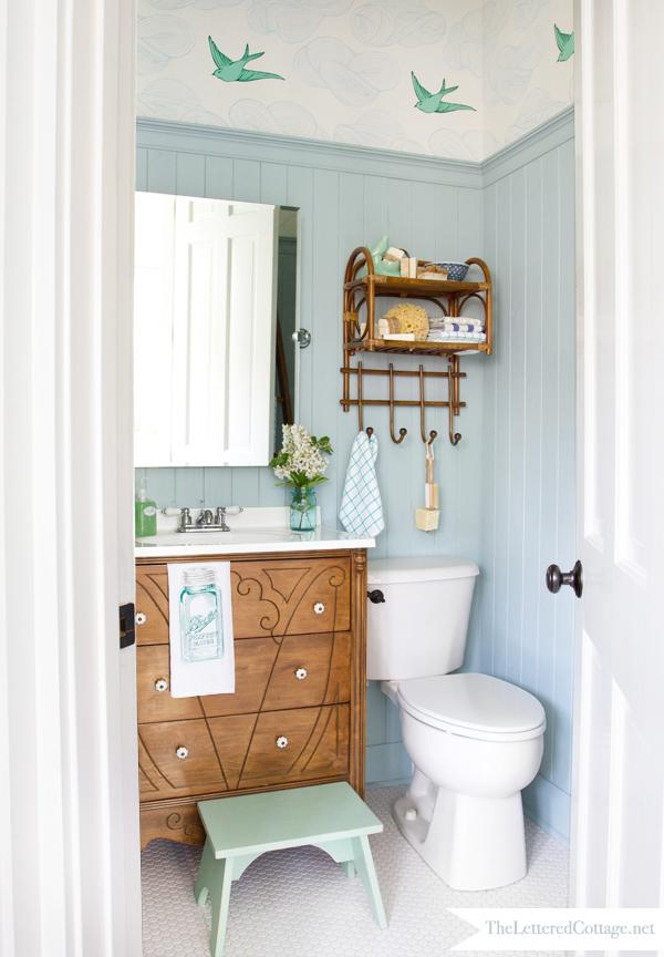 Cottage Bathroom Makeover  The Lettered Cottage