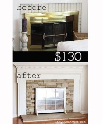 Airstone Fireplace Makeover | The Lettered Cottage