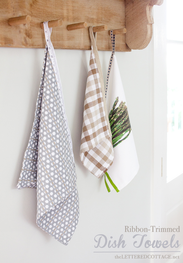gray kitchen towels small dishwashers diy hanging dish | the lettered cottage