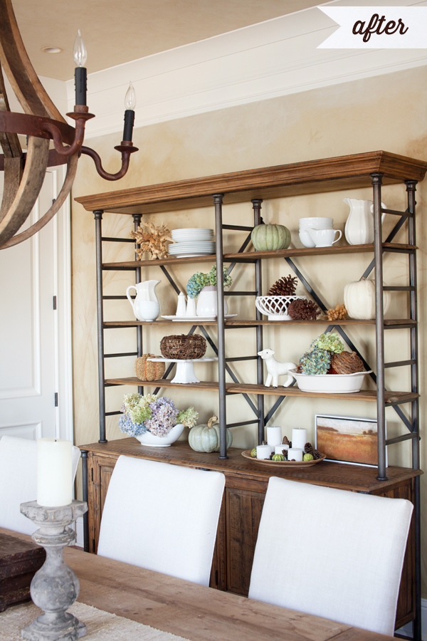 How To Decorate Shelves For Fall Or Anytime Really  The Lettered Cottage
