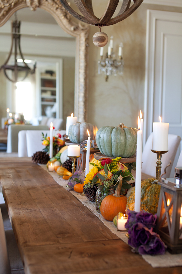 fall diner table decor