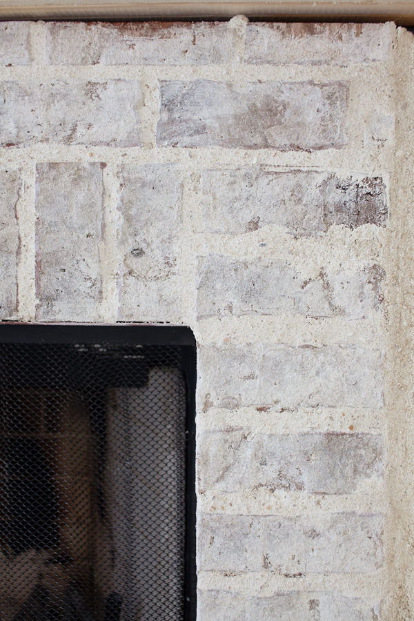 Fireplace Update MortarWashed Brick  The Lettered Cottage