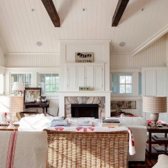 How To Decorate A Long Living Room Turn Into Art Studio Farmhouse Fireplace Makeover | The Lettered Cottage