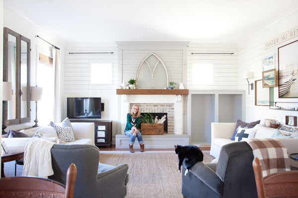 Farmhouse Builtins And The Difference Between Shiplap
