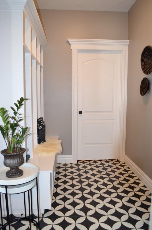 Paint Ceramic Floor Tile Lettered Cottage