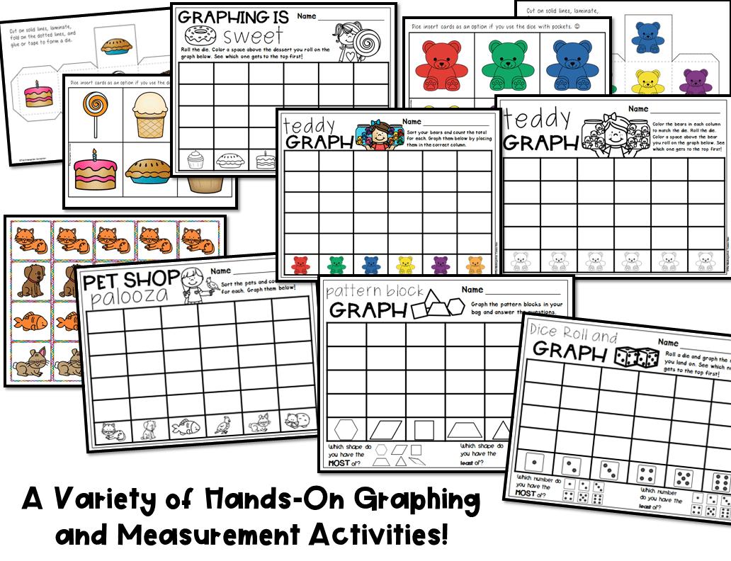 Graphing And Measurement Activities For Pre K And Kindergarten