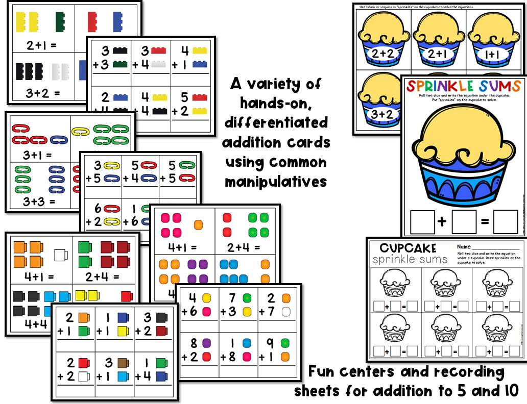 Addition Centers And Activities For Pre K And Kindergarten