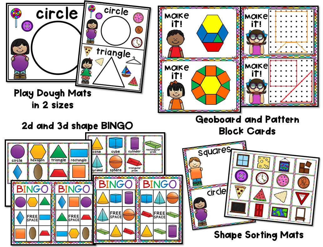 Shape Centers And Activities For Pre K And Kindergarten