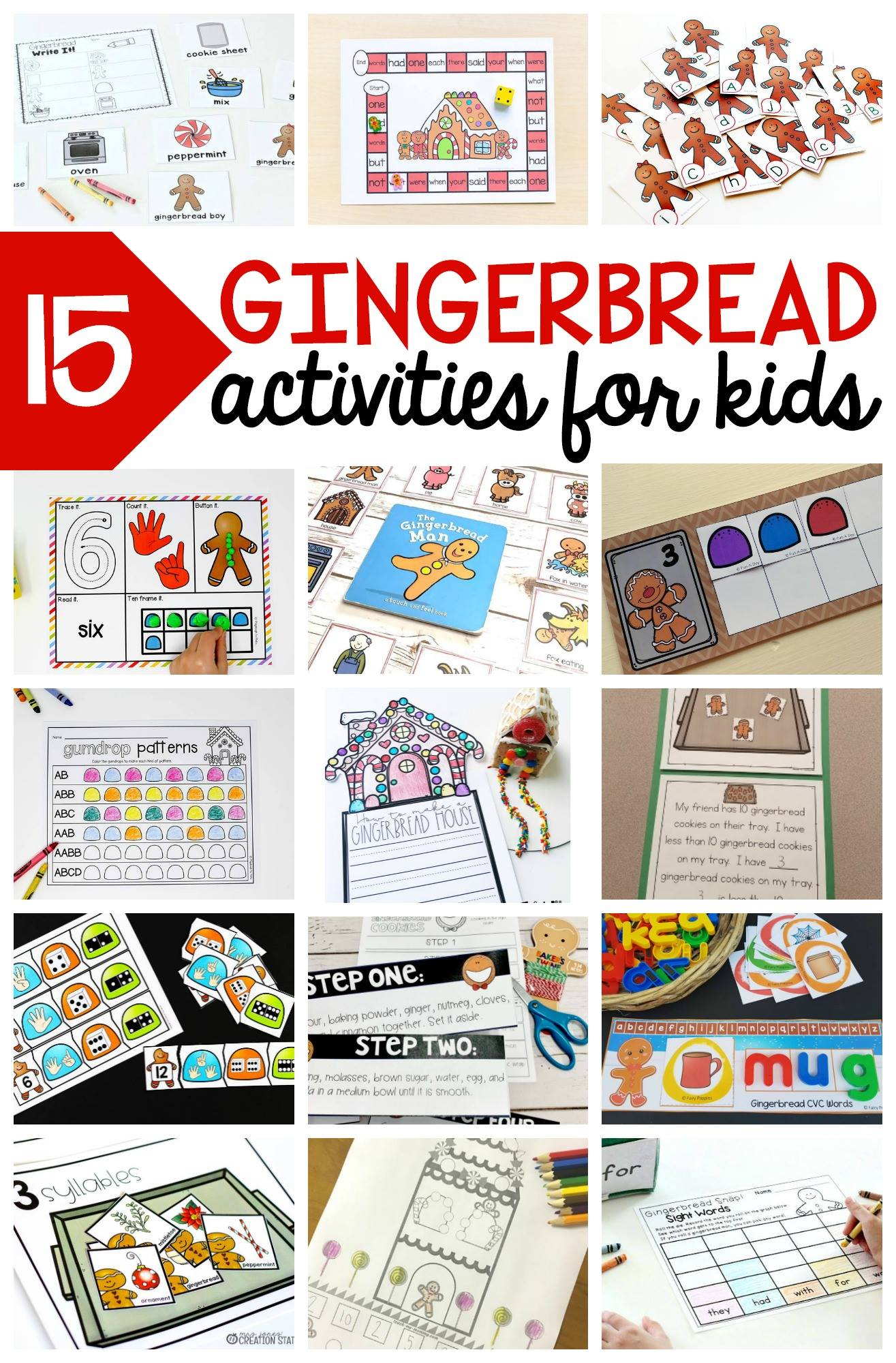 Free Editable Gingerbread Sight Word Game
