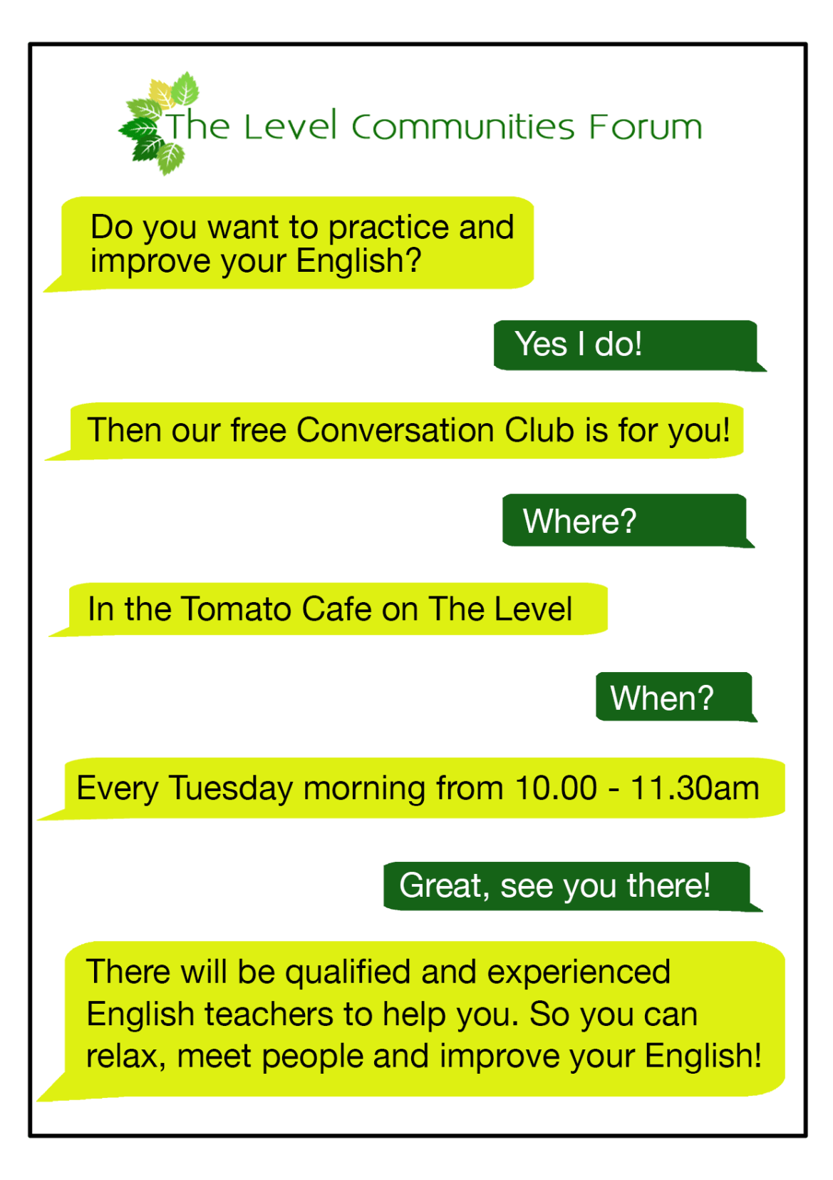 The Level Communities Forum is running a regular Conversation Club