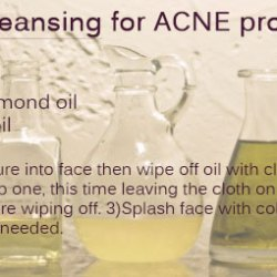 3 step oil cleansing infographic