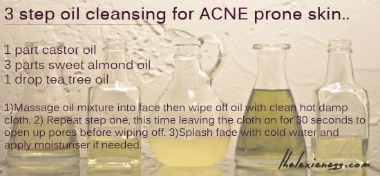 3 step oil cleansing for acne prone skin