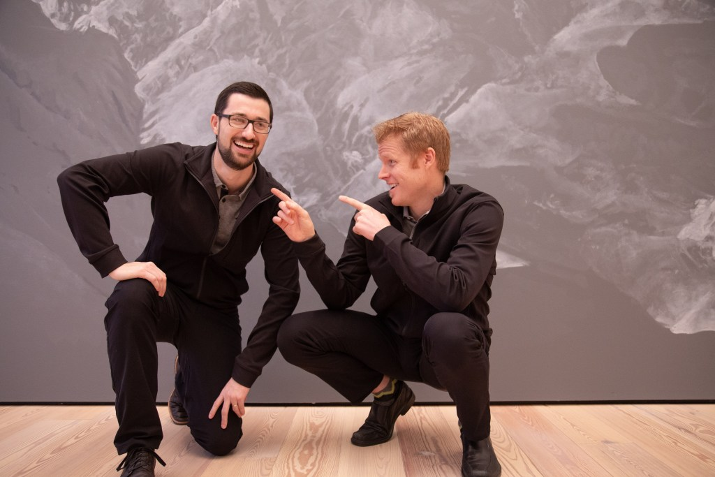 Dr Kyle Howell and Dr Justin Libby at the Anchorage Museum