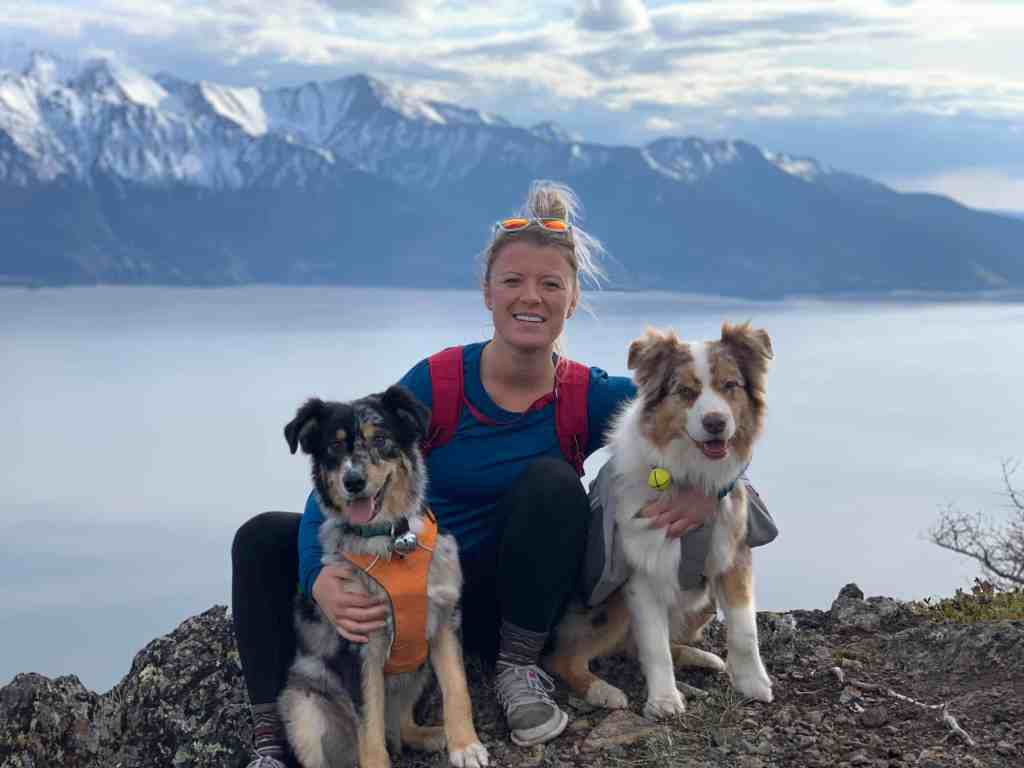 The Libby Group Anchorage Alaska Robyn Dental Provider chugach mountains dog hiking 3