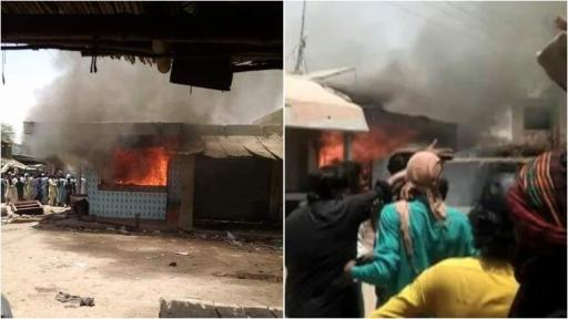 Shops of Hindus burned after a Hindu in Pakistan was arrested under the charges of blasphemy.