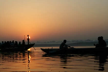 Sunrise Boat Ride Varanasi by Jimmy Wales