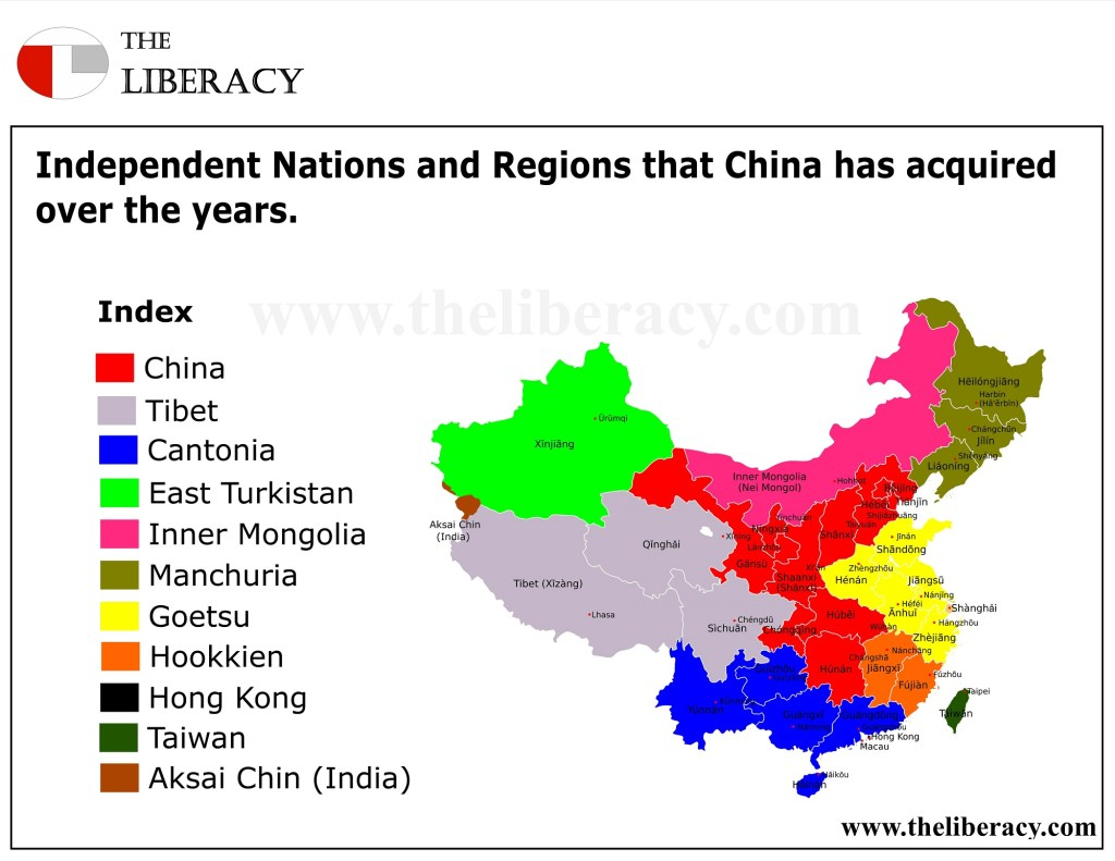 Nations and Regions Colonized by China.