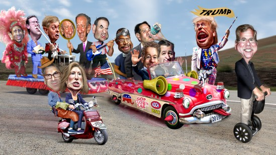GOP Republican Clown Cart presidential election Republican primary