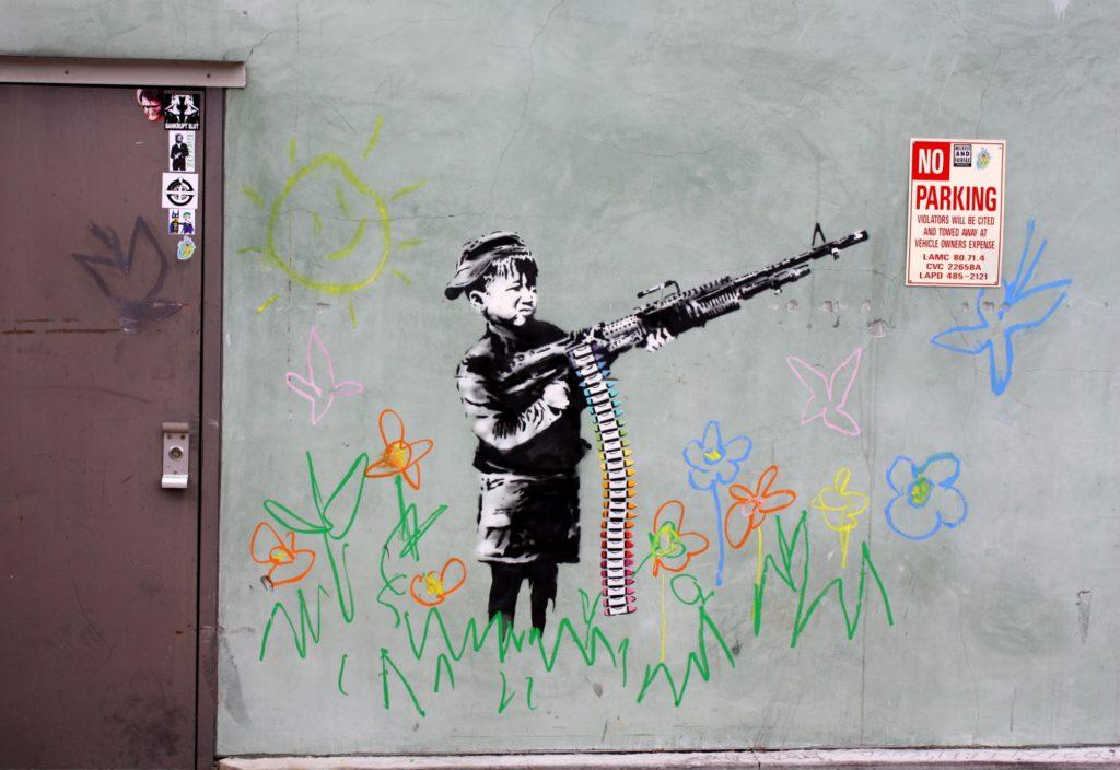 Terrorist Rocket Attack On Walt Disney Icon Banksy Prank