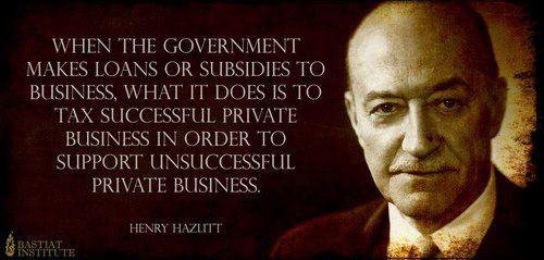henry hazlitt subsidy tax