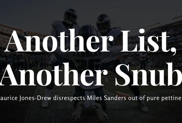 Miles Sanders Snub