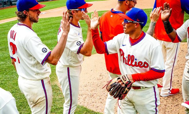 Aaron Nola Phillies Split Series with Braves