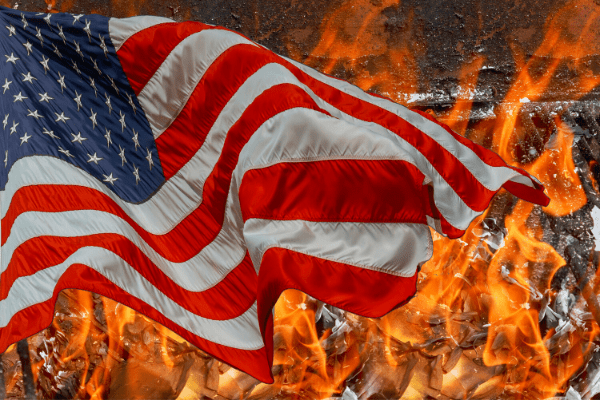 For Liberals, Flags, and Songs are the Root of Evil in America