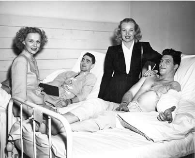 Gloria Stuart and Hillary Brooke Visit Patients