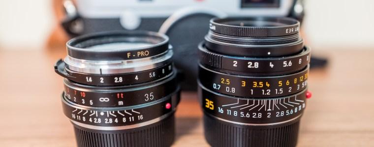 Left : Voigtlander Nokton 35mm F/1.4 Right : Leica M summicron-M 1:2/35 asph