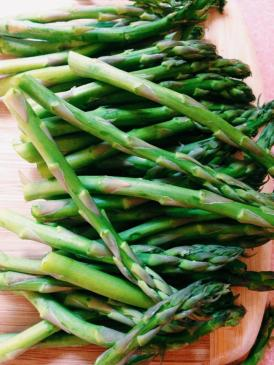 I have to admit that this asparagus was totally gorgeous!