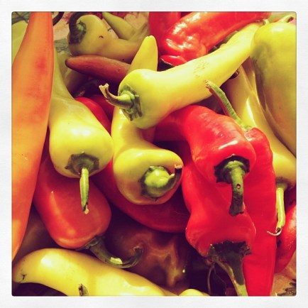 Hot peppers.