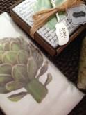 Our new artichoke cloth.