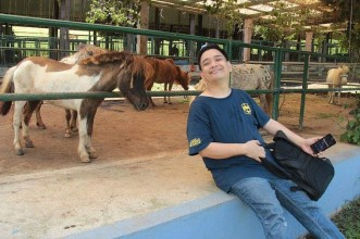 With my favorite animal