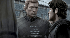 in typical telltale fashion, you decide wheather you want to bow to another, or stand your ground. Image Source: Gamepressure.com