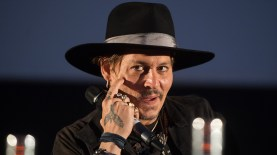 GLASTONBURY, ENGLAND - JUNE 22: Johnny Depp arrives for a showing of his film The Libertine as he attends on day 1 of the Glastonbury Festival 2017 at Worthy Farm, Pilton on June 22, 2017 in Glastonbury, England. (Photo by Samir Hussein/Redferns)