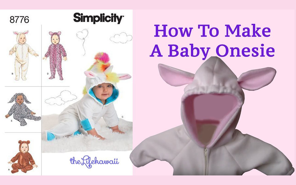 Make A Onesie   How To Sew A Onesie For Baby   the Life kawaii